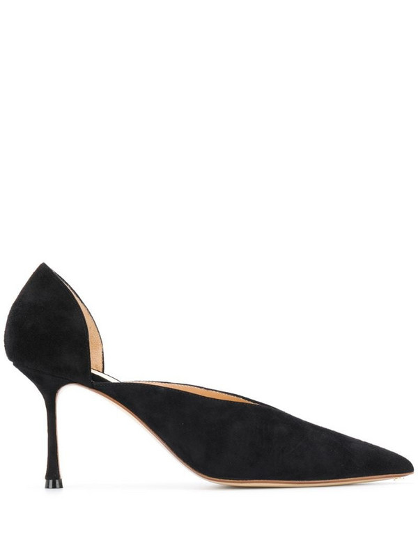 Francesco Russo mid-heel d'orsay pumps in black