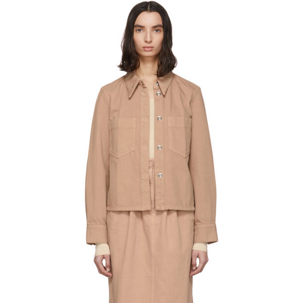 Lemaire SSENSE Exclusive Pink Denim Boxy Jacket