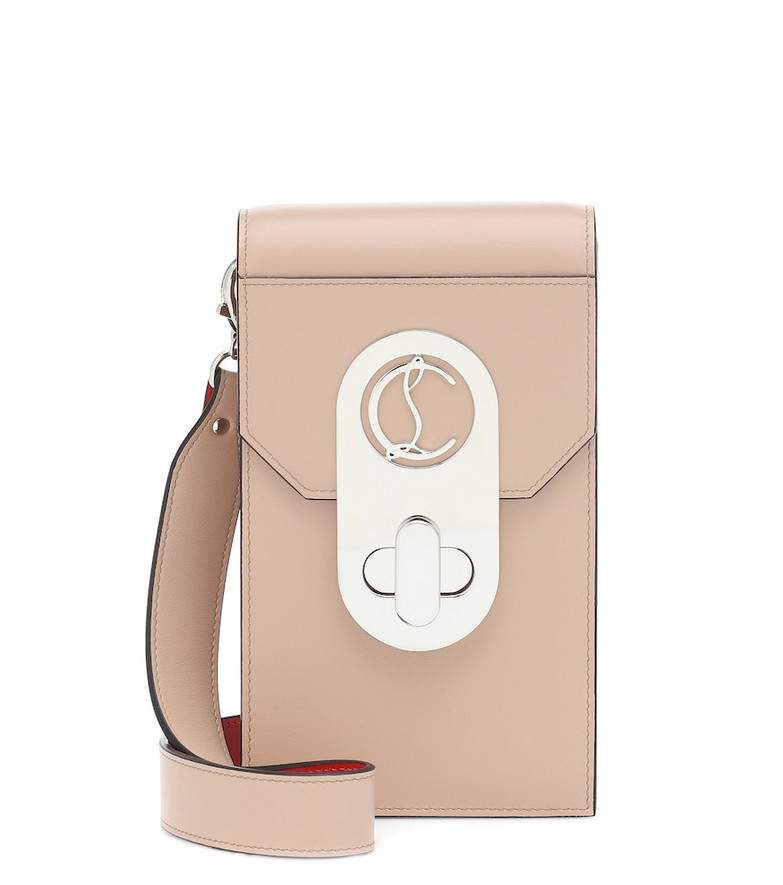 Christian Louboutin Elisa Phone Pouch leather crossbody bag in pink