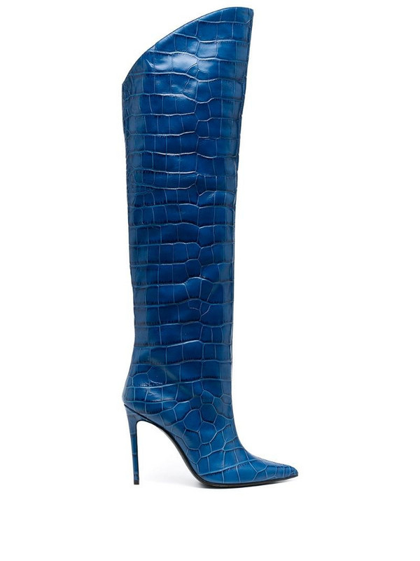 Giuliano Galiano Elise pointed boots in blue