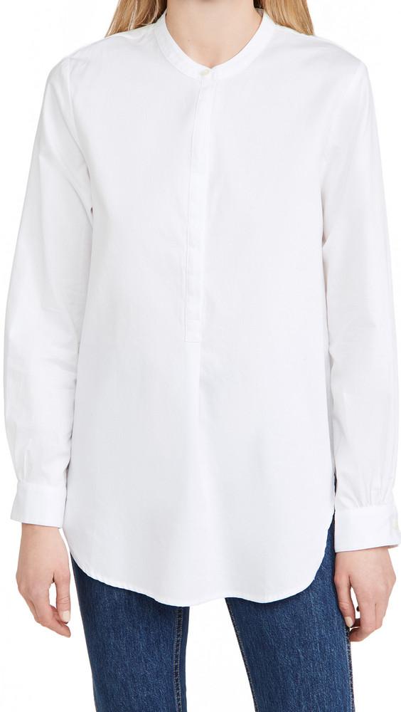 Birds of Paradis Tori Classic Henley Tunic in white