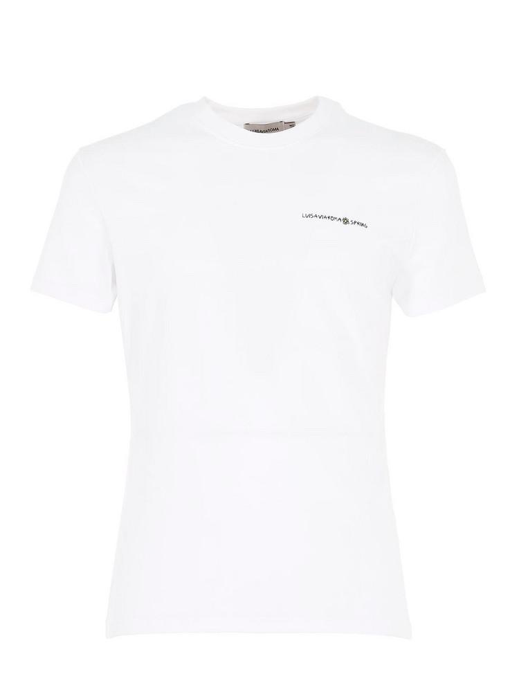 LUISAVIAROMA Cb Hoyo X Lvr Logo Cotton T Shirt in white