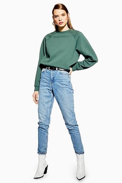 TopShop Bleach Mom Jeans - Bleach Stone