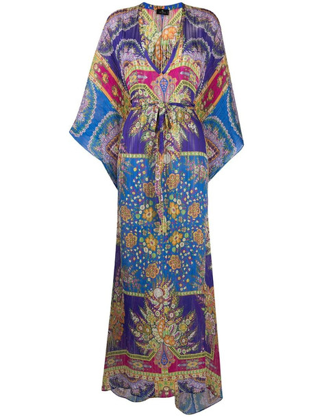 Etro paisley print maxi dress in pink