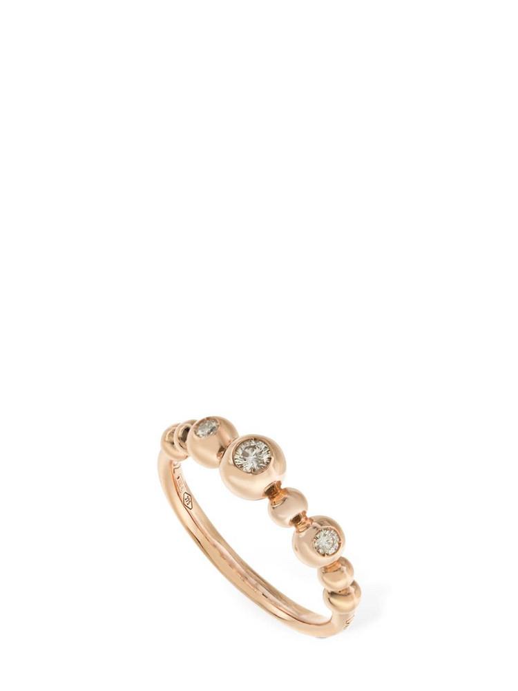 DODO 9kt & Diamond Bollicine Ring in gold