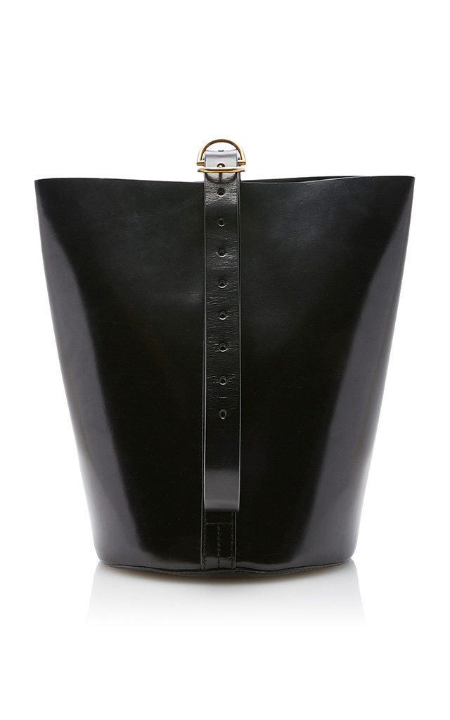 Trademark Bucket Bag in black