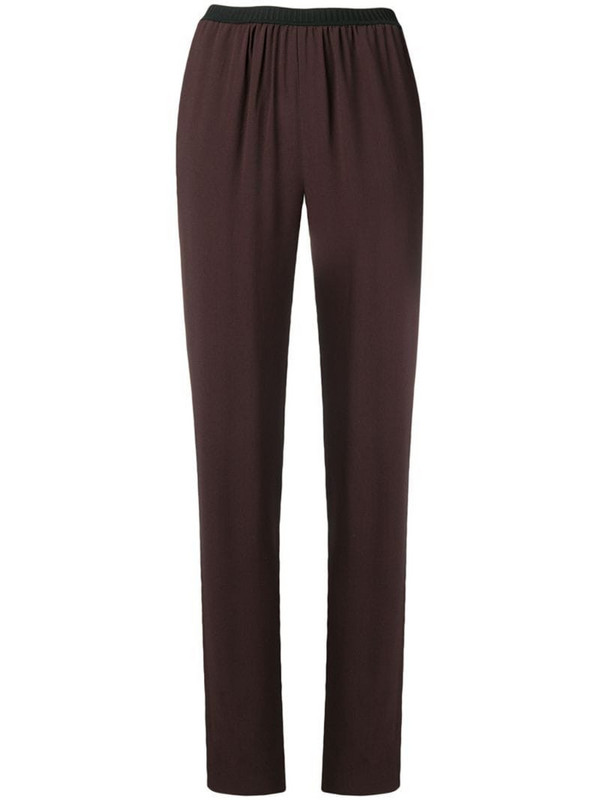 Antonio Marras high-waist ruched trousers in brown