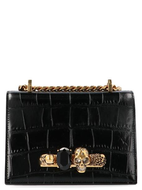 Alexander Mcqueen jewel Satchel Bag in black