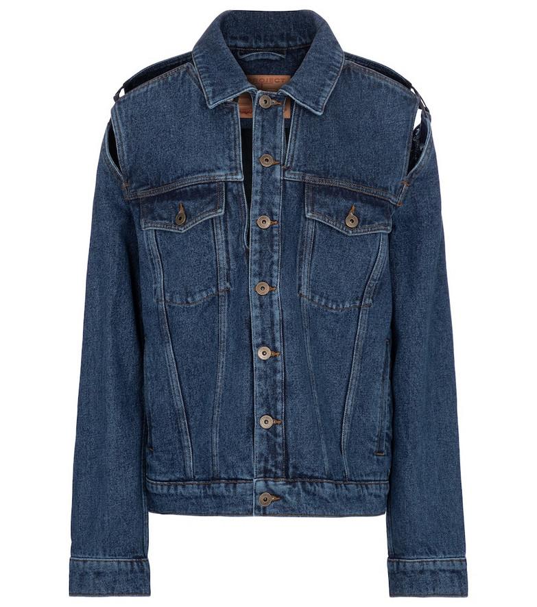 Y/PROJECT Cutout denim jacket in blue