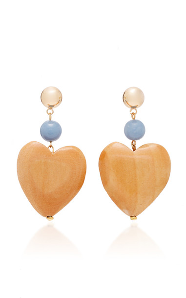 Sophie Monet Gold-Plated, Maple And Angelite Earrings in multi