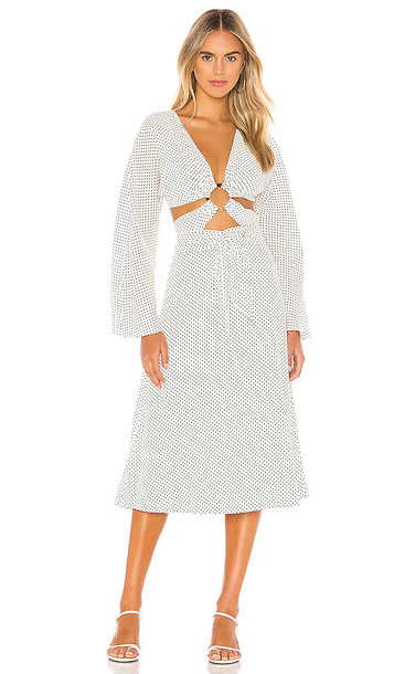 Tularosa Molly Midi Dress in White