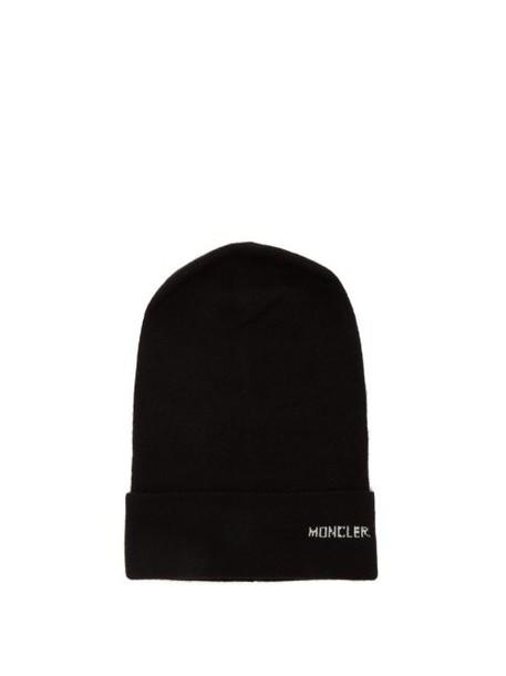 Moncler - Logo Cashmere Beanie Hat - Womens - Black