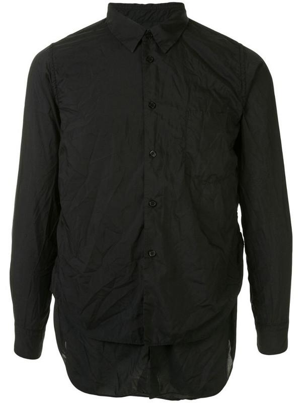 Black Comme Des Garçons crinkled poplin shirt in black