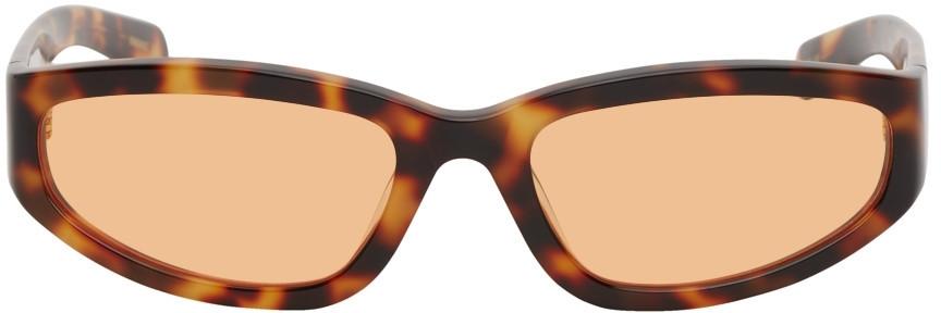 FLATLIST EYEWEAR Tortoiseshell Veneda Carter Edition Daze Sunglasses in orange