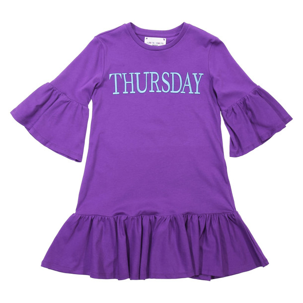 Alberta Ferretti Thursday Violet Cotton Dress