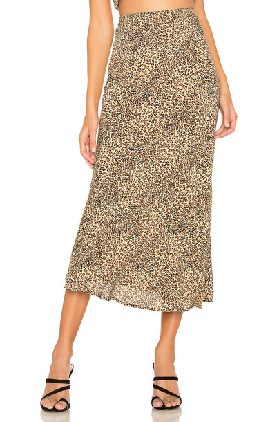 FLYNN SKYE Alice Skirt in brown