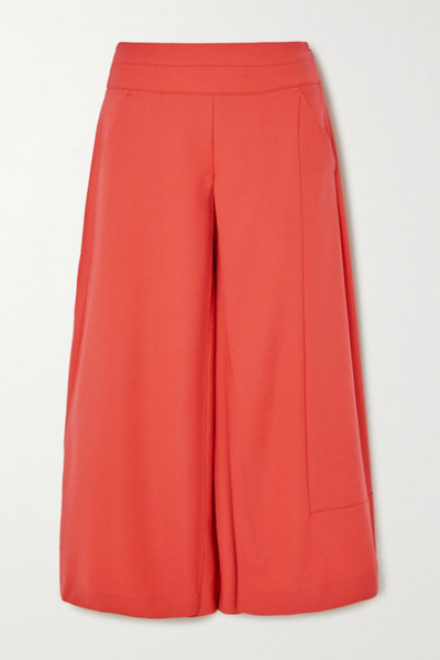 palmer/harding palmer//harding - Vana Crepe Wide-leg Culottes - Orange