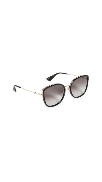 Gucci Web Block Sunglasses in black / gray