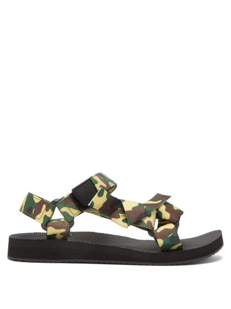 Arizona Love - Trekky Camouflage Velcro Strap Sandals - Womens - Green