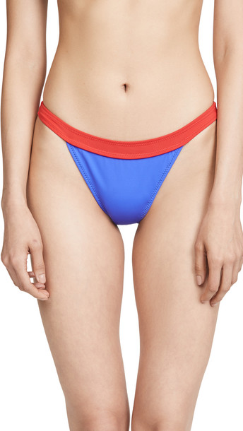 Solid & Striped The Molly Bikini Bottoms in blue