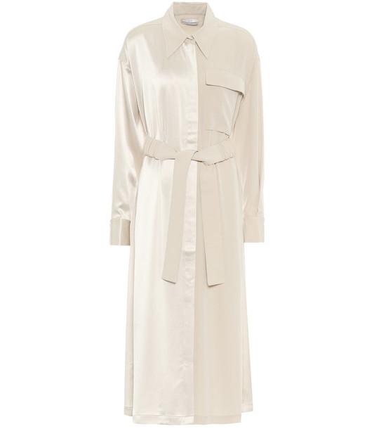 Co Satin shirt dress in beige
