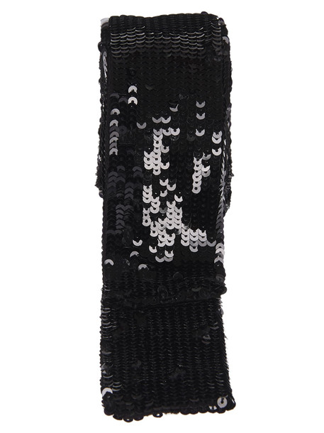 Attico Sequined Belt in black