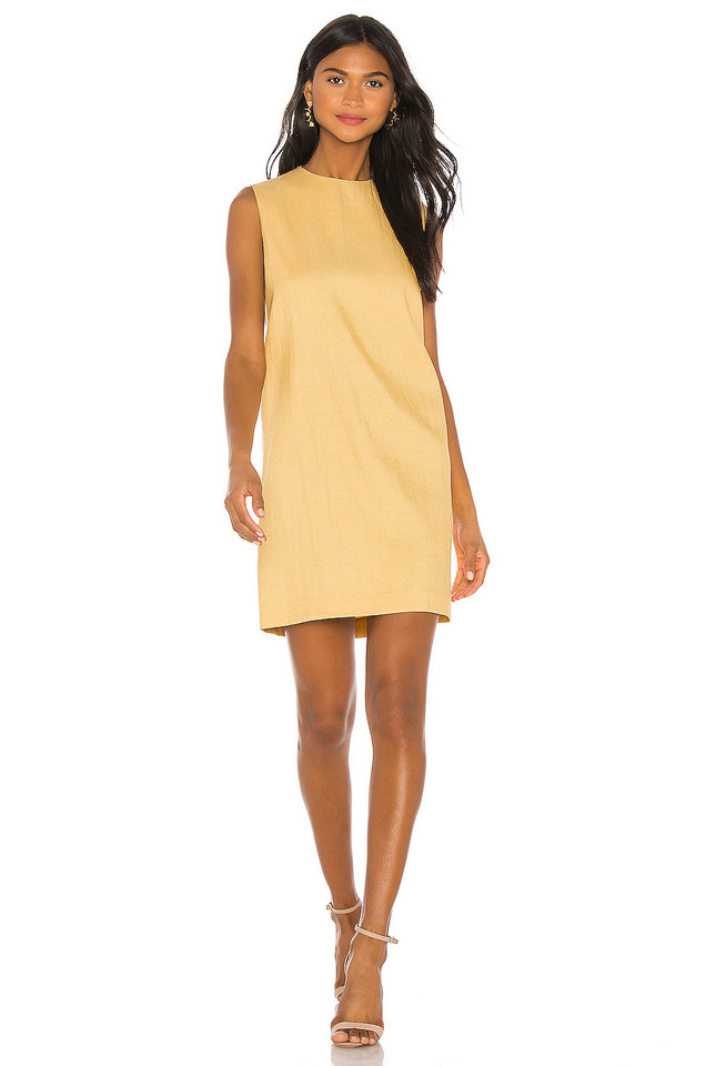 Theory Column Dress in yellow