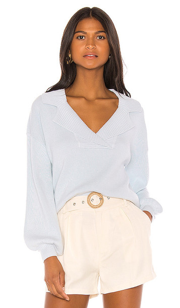 Song of Style Dumas Sweater in Baby Blue