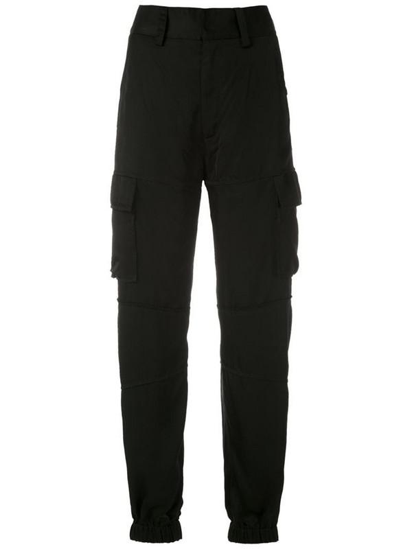 Reinaldo Lourenço high-waist cargo trousers in black