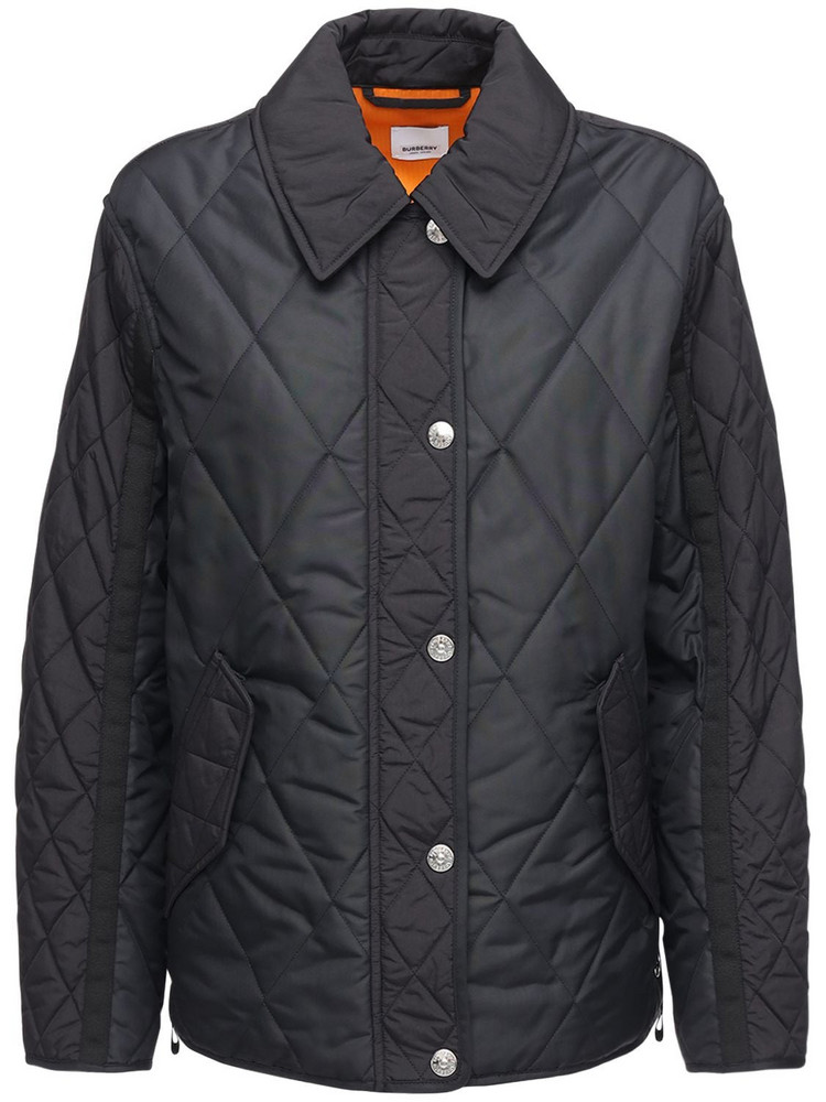 BURBERRY Levenham Quilted Jacket W/ Back Logo in black
