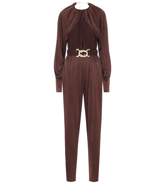 Dodo Bar Or Stretch-jersey jumpsuit in brown