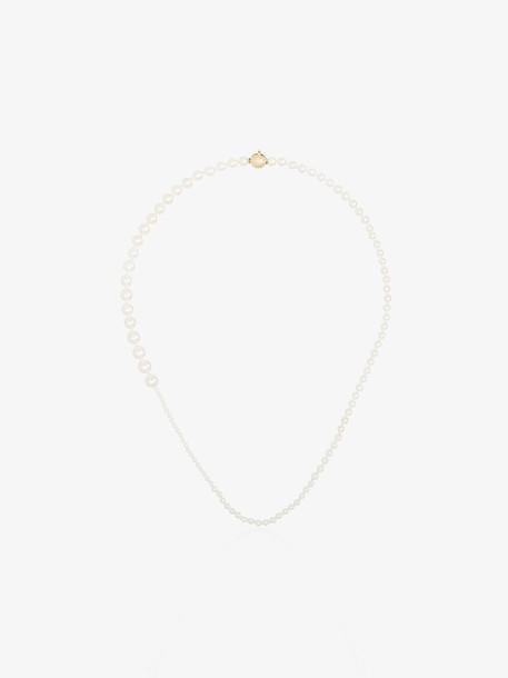 Sophie Bille Brahe 14kt gold pearl necklace