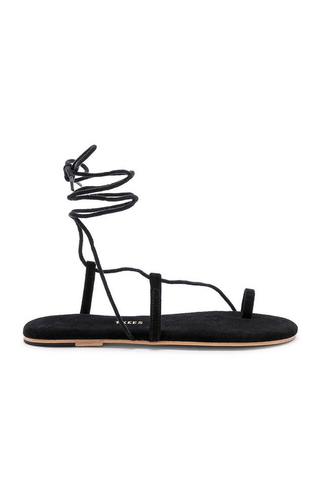 TKEES Jo Suede Sandal in black