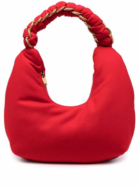 Balmain Pillow Hobo wool shoulder bag - Red