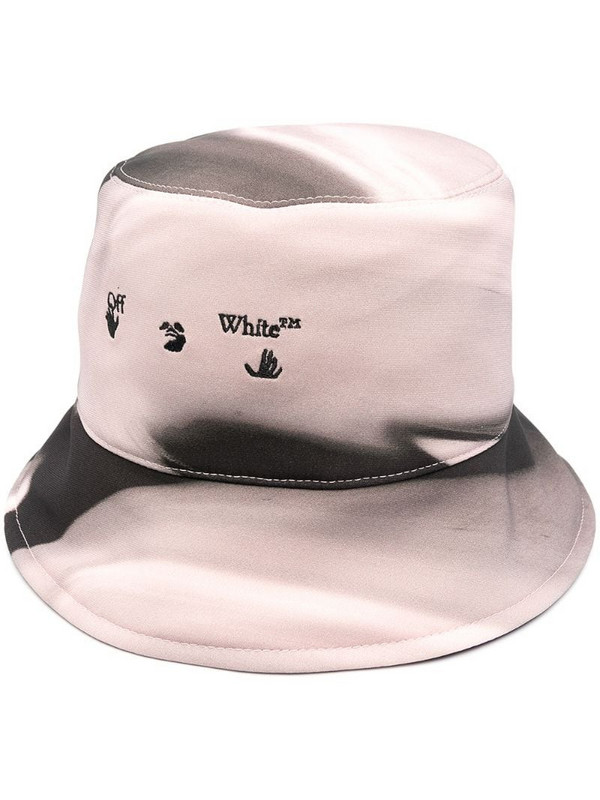 Off-White logo-embroidered bucket hat in pink