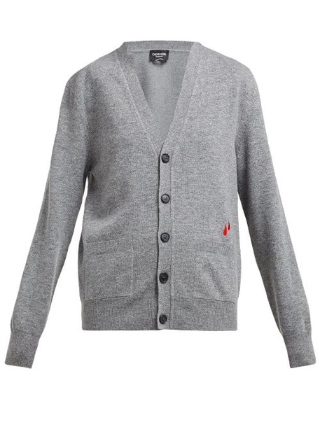 Calvin Klein 205w39nyc - Drop Embroidered Wool Blend Cardigan - Womens - Grey