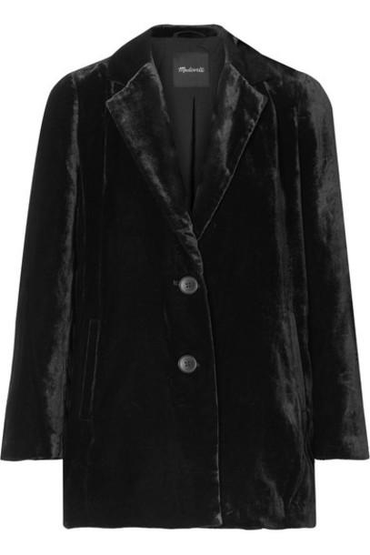 Madewell - Velvet Blazer - Black