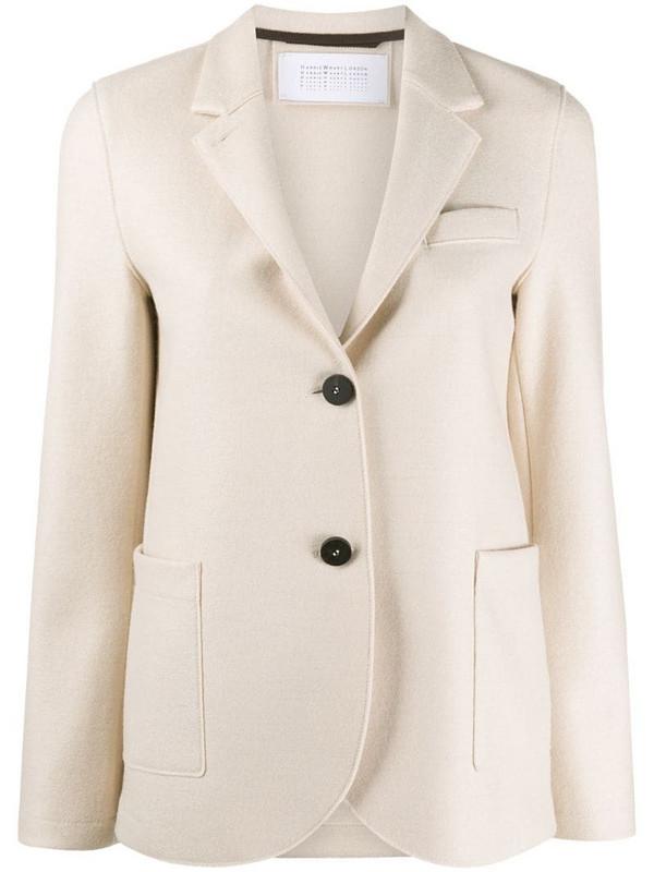 Harris Wharf London single-breasted wool blazer in neutrals