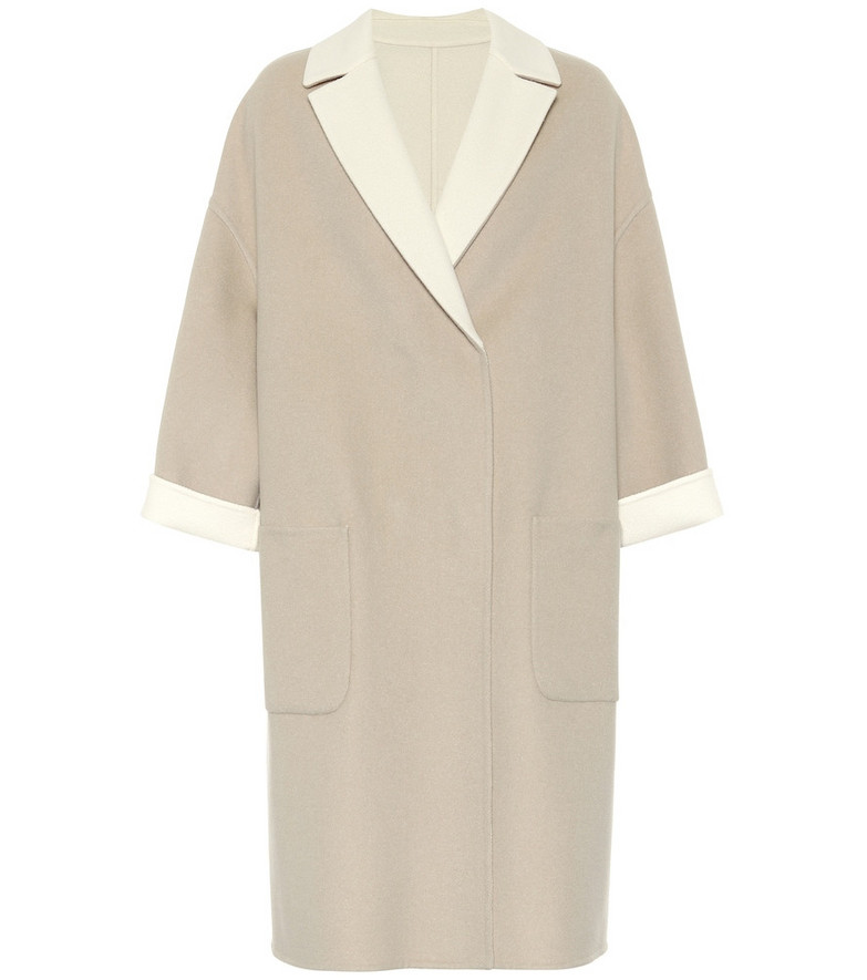 Brunello Cucinelli Reversible cashmere coat in beige