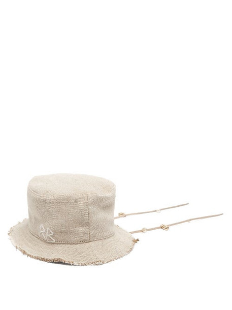 Ruslan Baginskiy - Woven Canvas Bucket Hat - Womens - Beige
