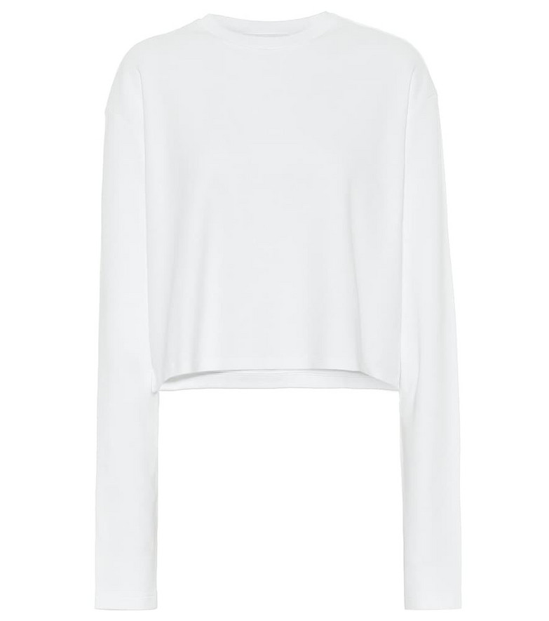 WARDROBE.NYC Release 03 cotton jersey top in white
