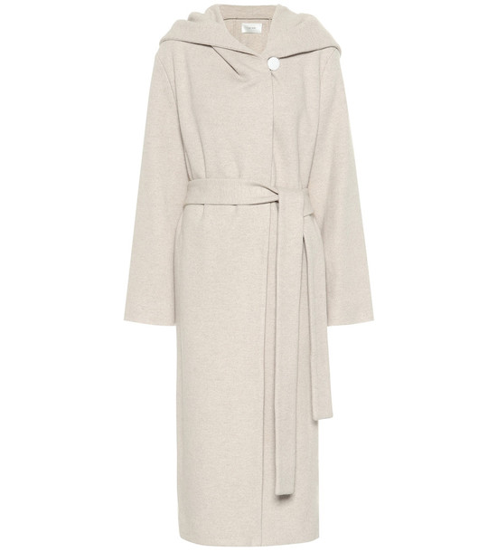 The Row Riona wool and cashmere coat in beige