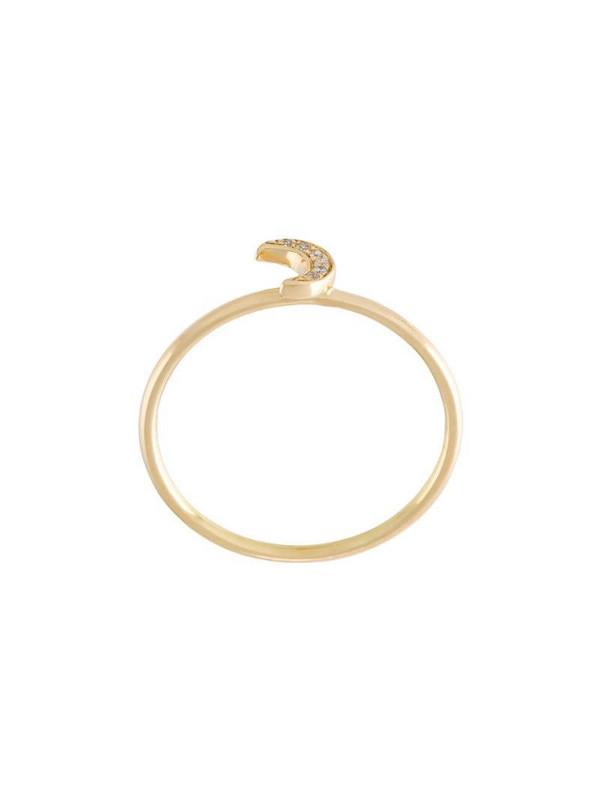 Loquet 'Moon' ring in metallic