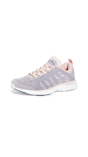 APL: Athletic Propulsion Labs TechLoom Pro Sneakers in peach / white