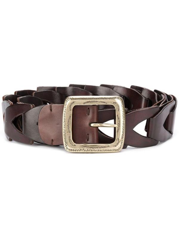 Kate Cate Tex Mex geometric belt in brown