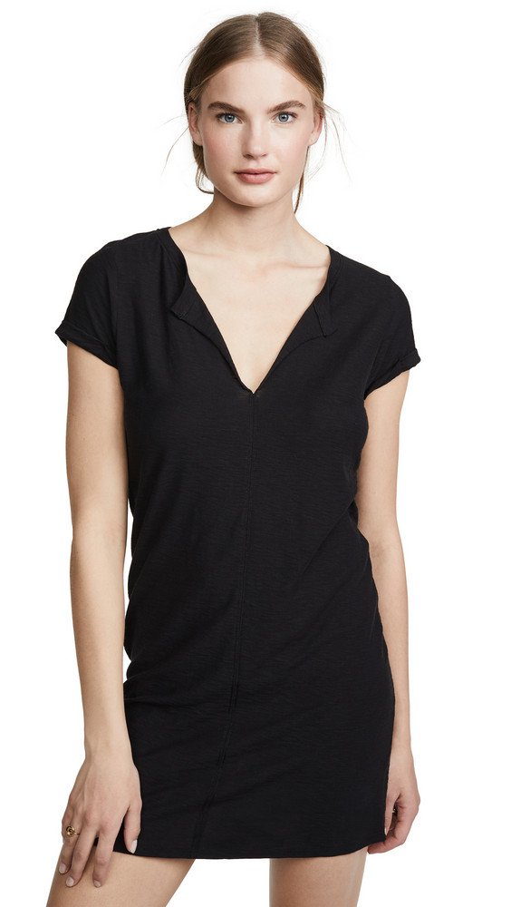 Nation LTD Lindsey T-Shirt Dress in black
