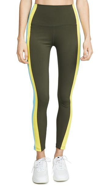 Splits59 Jaden High Waist 7/8 Leggings in yellow / multi