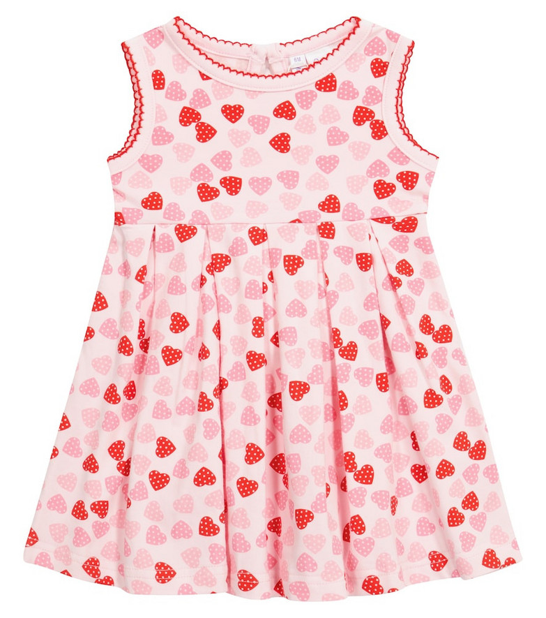 Rachel Riley Baby printed cotton jersey dress in pink