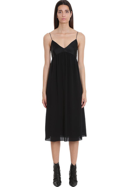 Theory Dress In Black Silk