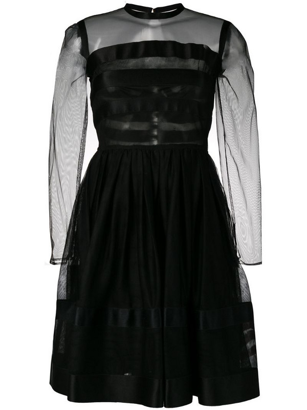 Chanel Pre-Owned 1990's fit-and-flare dress in black